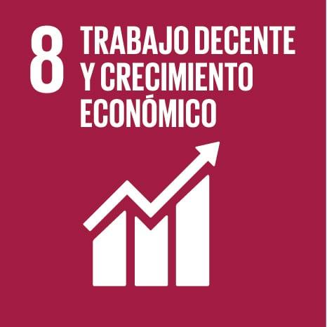 Icono ODS Trabajo decente y crecimiento económico